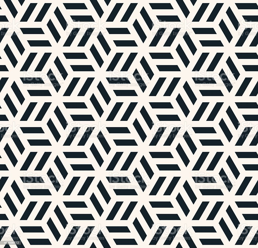 monochrome hexagonal pattern vector art illustration