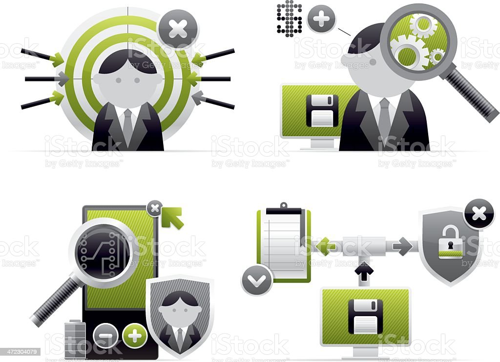 monochrome icons royalty-free stock vector art