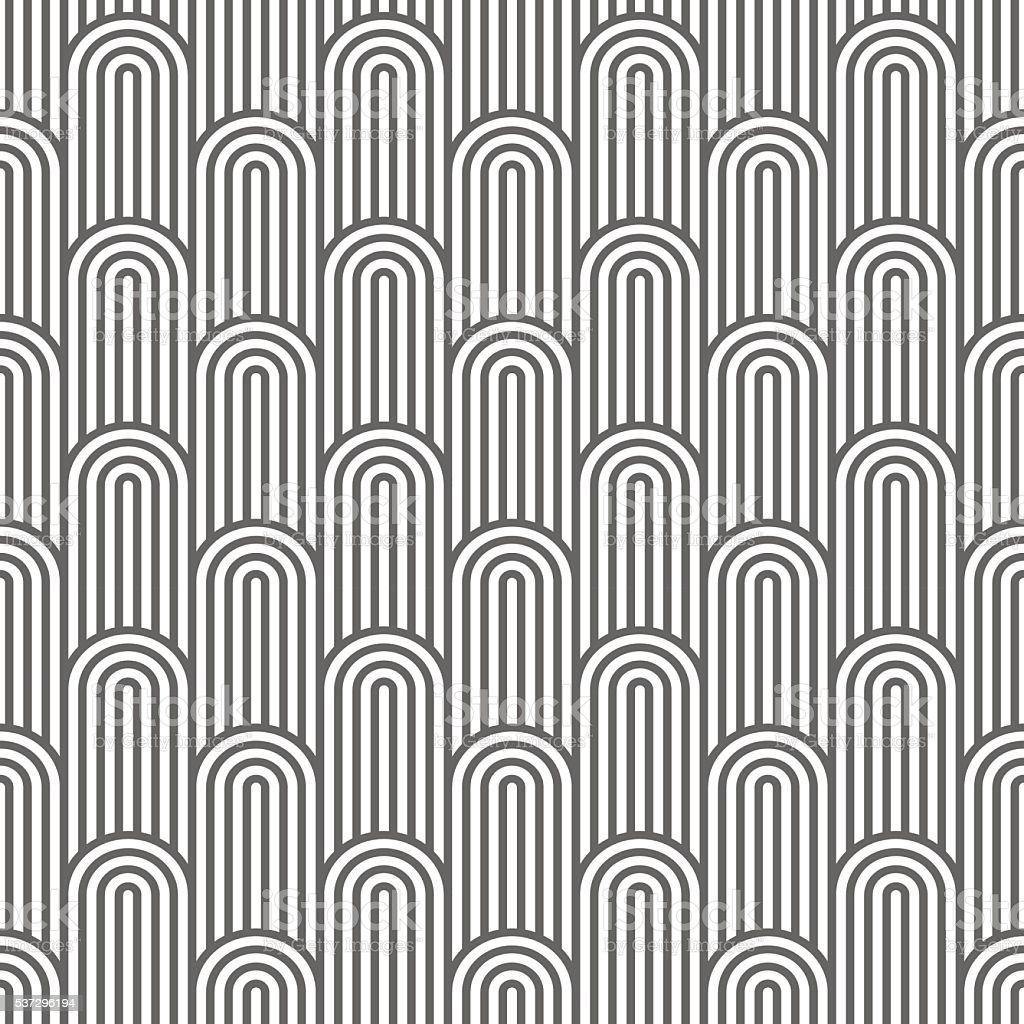 Monochrome striped flaked seamless pattern vector art illustration
