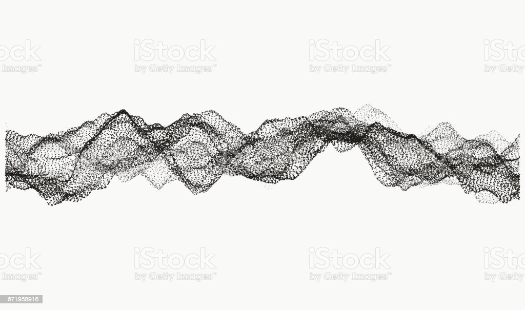 Monochrome wavy structure vector art illustration