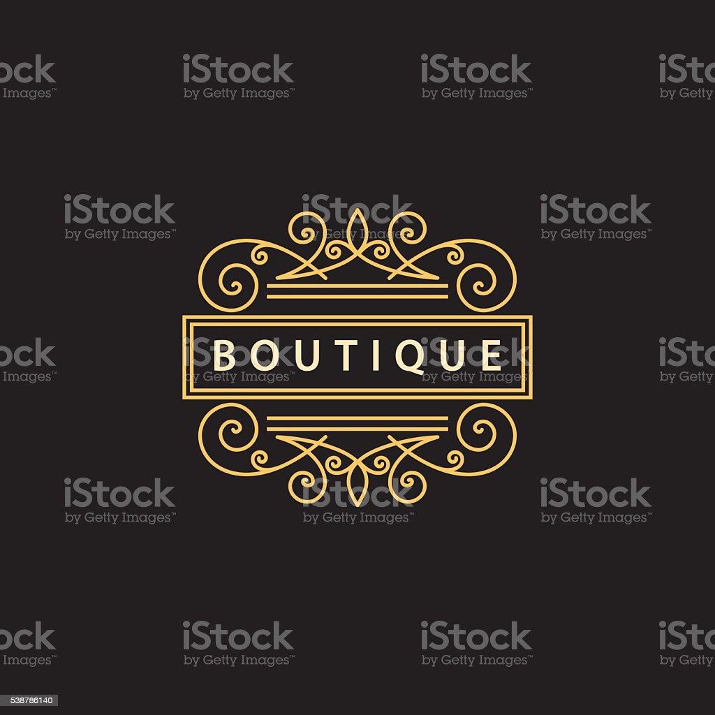 Monogram design elements, graceful template. Business sign Vector illustration vector art illustration