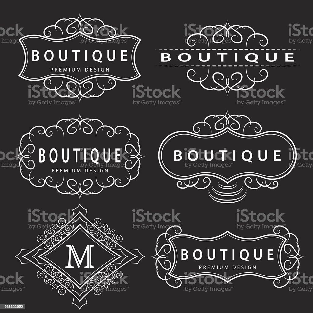 Monogram design elements, graceful template. Elegant business emblem, Vector illustration vector art illustration