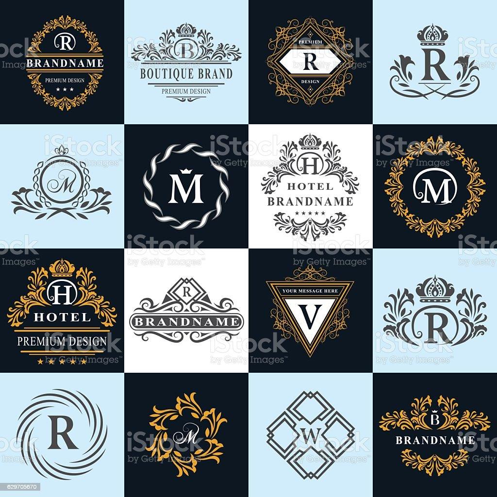 Monogram design elements, graceful template. English letters. Business emblem. Vector vector art illustration