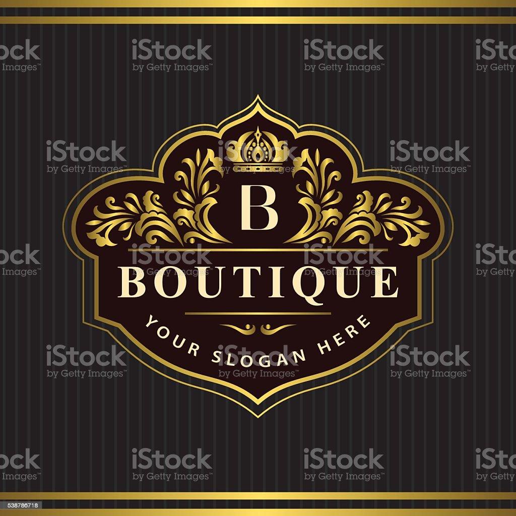 Monogram design elements, graceful template. Letter emblem B. Vector vector art illustration