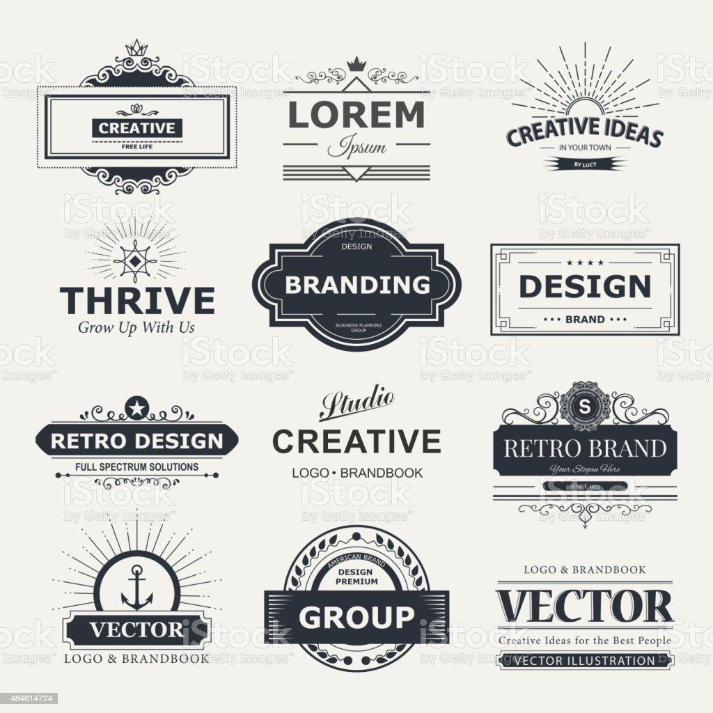 Monogram design vector art illustration