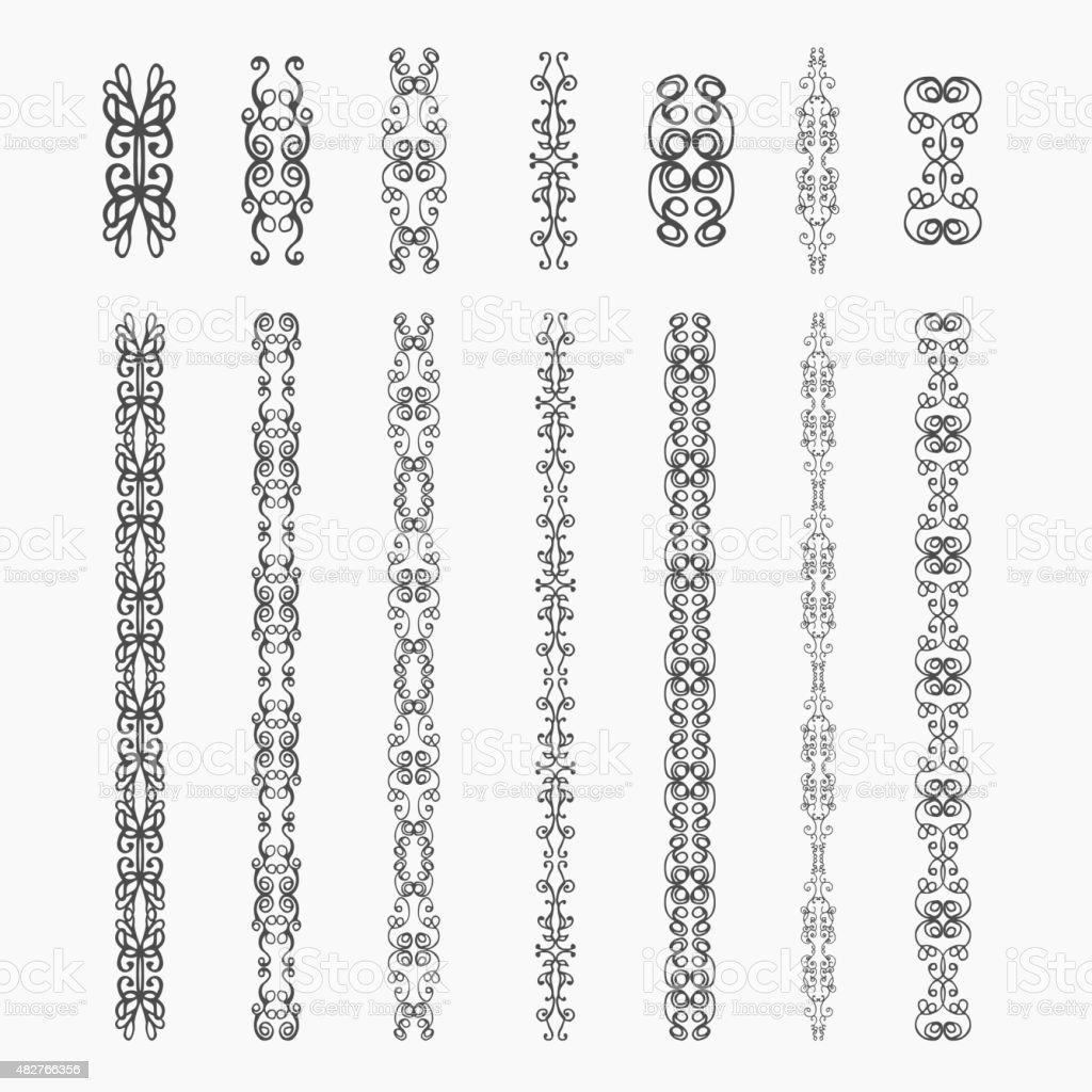 Monogram  elements vector art illustration