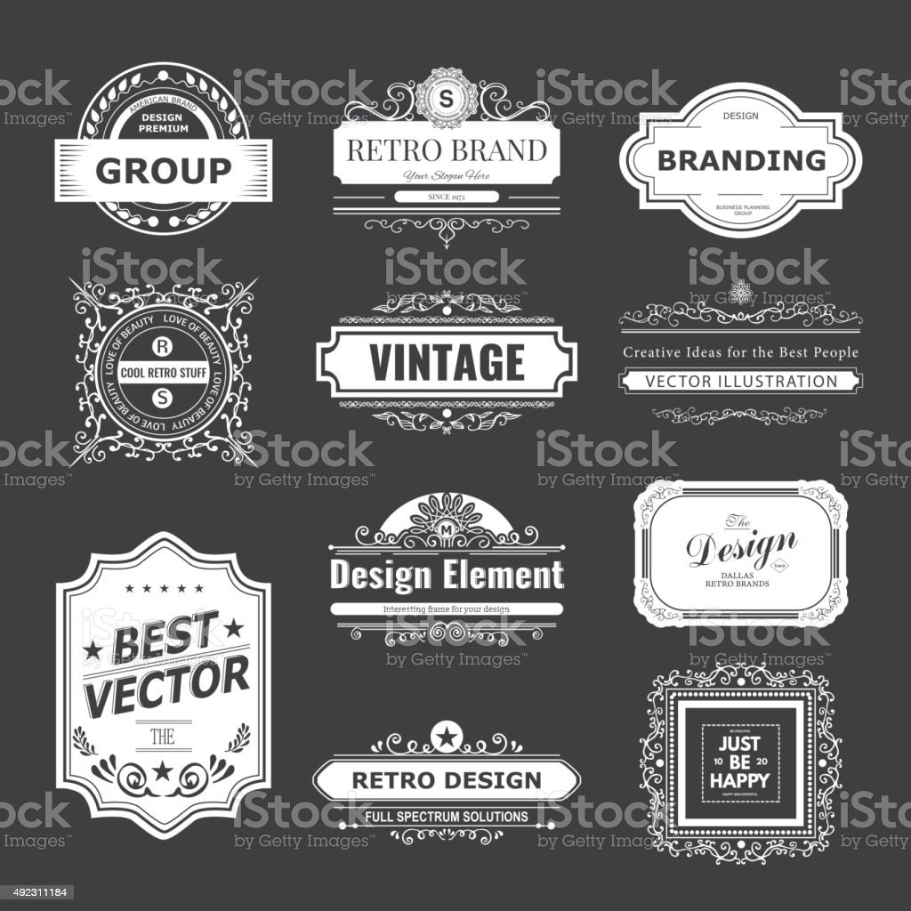 Monogram luxury ornament vector art illustration