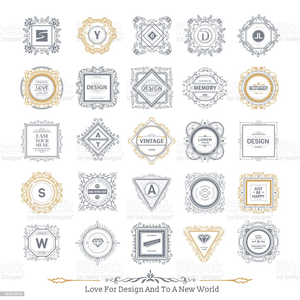 Monogram  luxury ornament vector art illustration