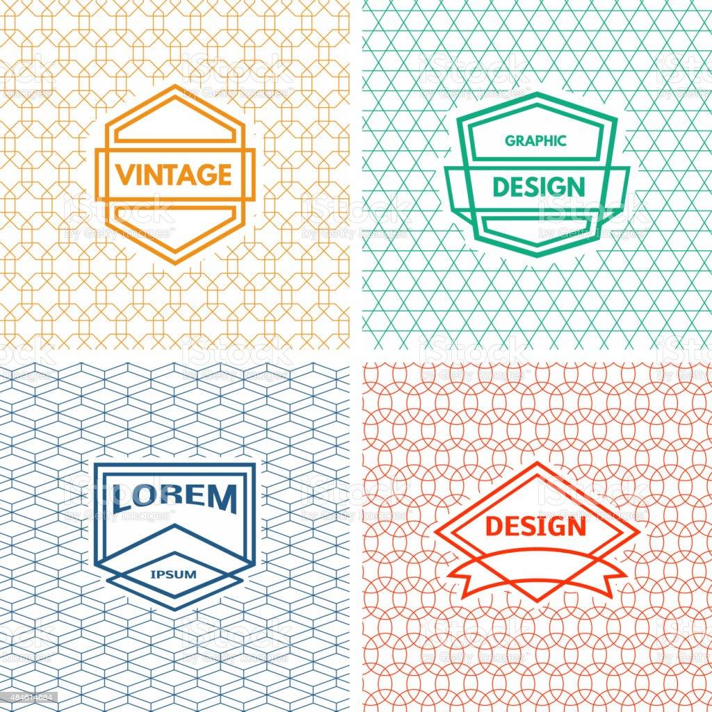 Monogram  template vector art illustration