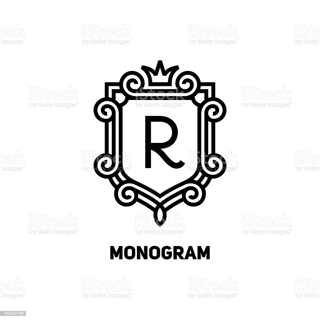 Monogram vector art illustration