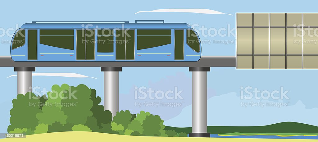 Monorail royalty-free stock vector art
