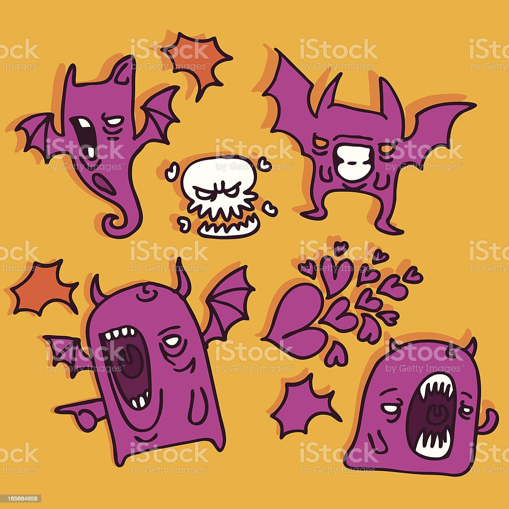monster and demons royalty-free stock vector art