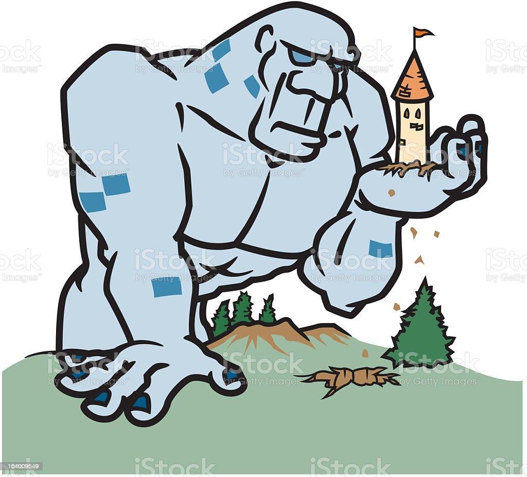 Monster Attacks Castle royalty-free stock vector art