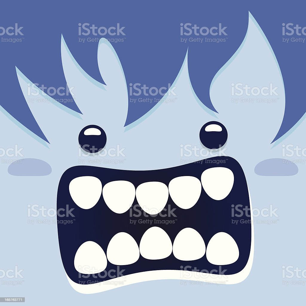 Monster close up royalty-free stock vector art