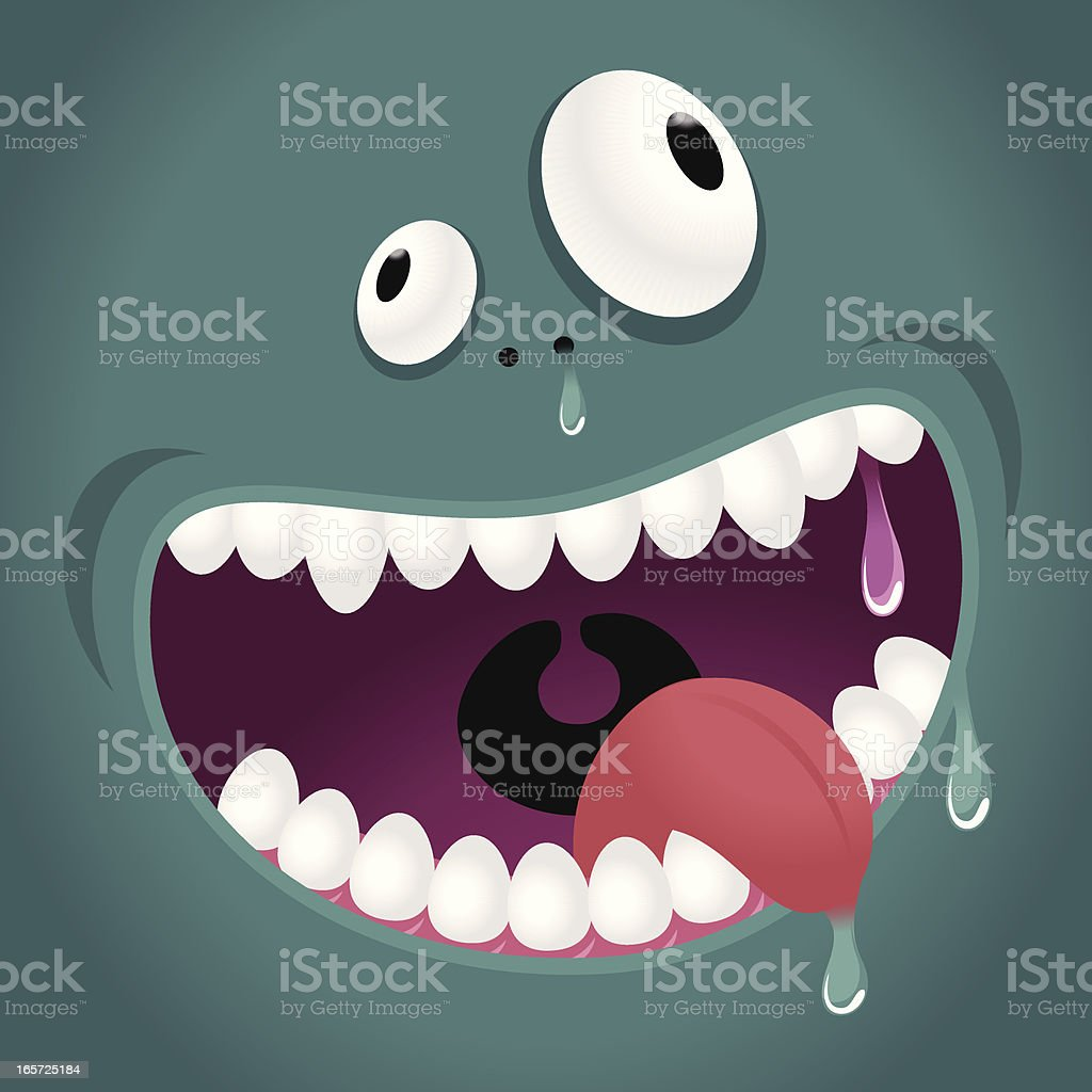 Monster Emotion: Hungry, Laughing royalty-free stock vector art