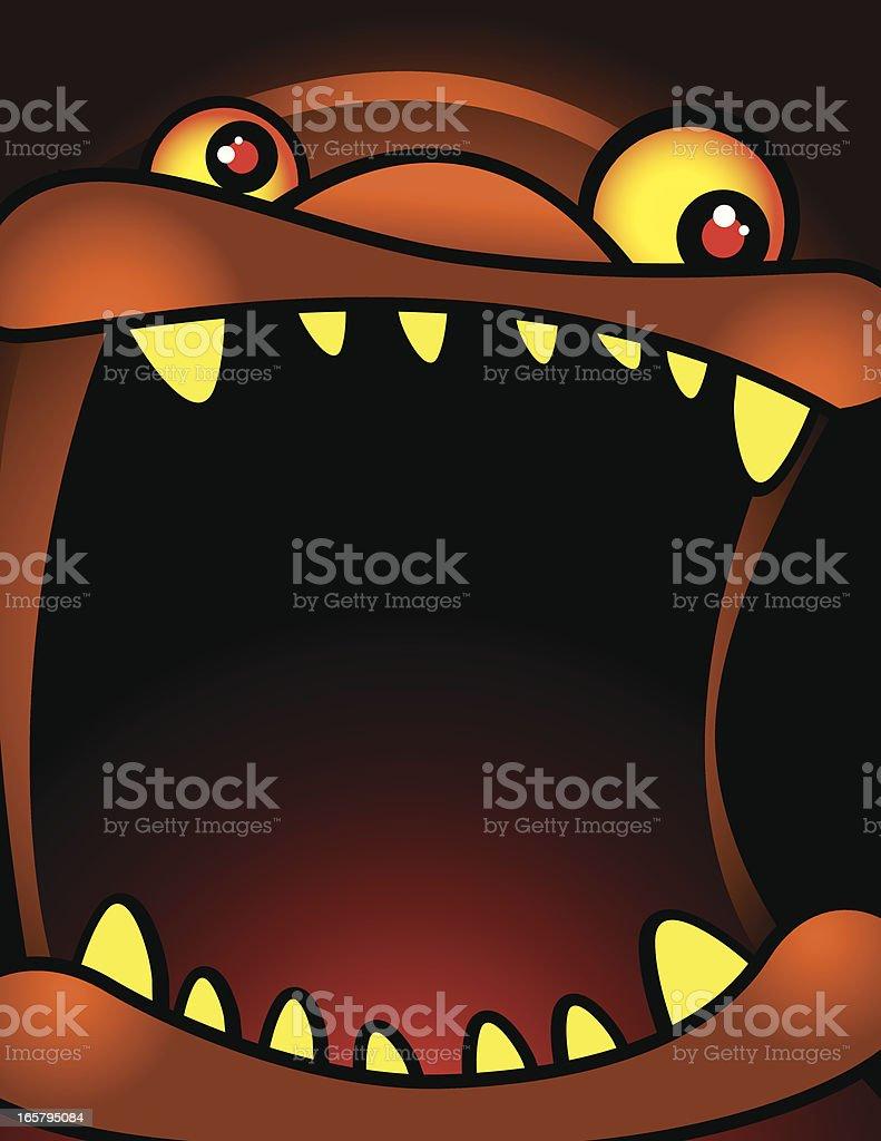 Monster Face vector art illustration