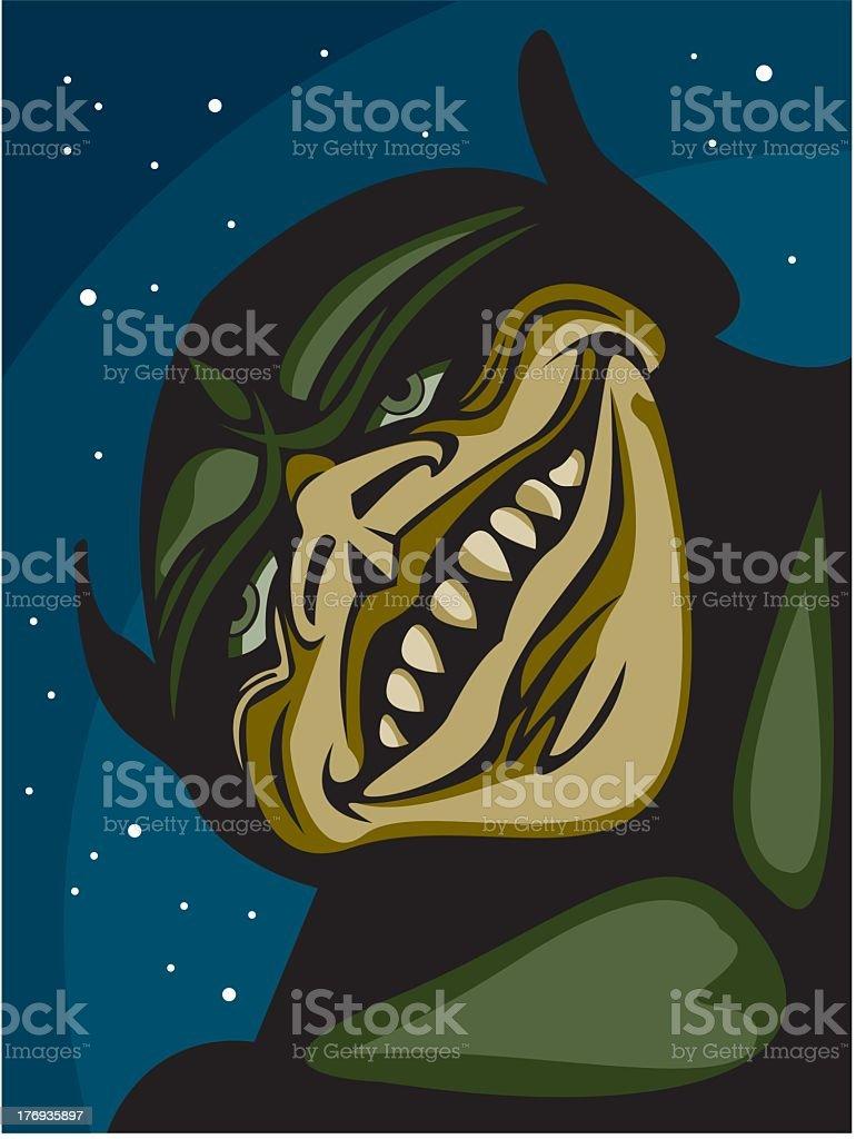 Monster Face royalty-free stock vector art