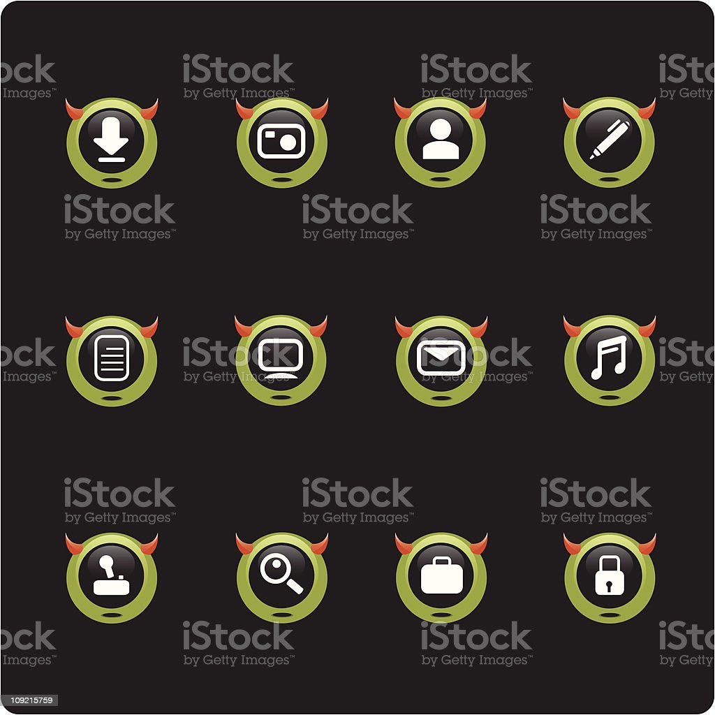 monster icon set royalty-free stock vector art