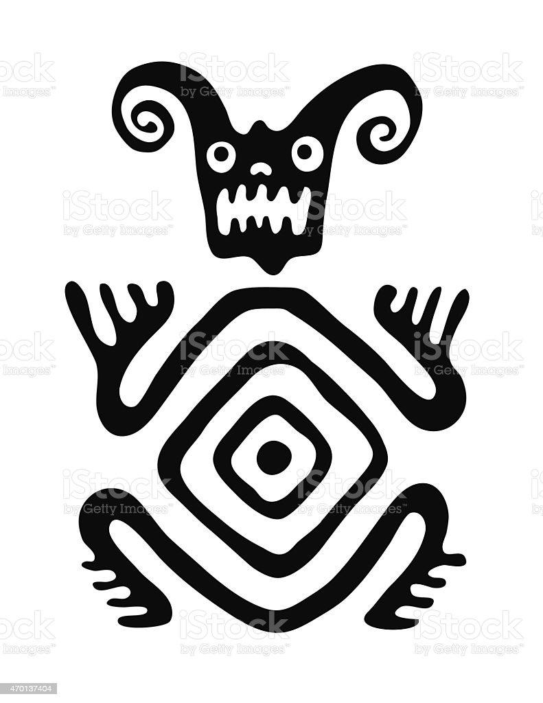 monster in native style, vector illustration vector art illustration