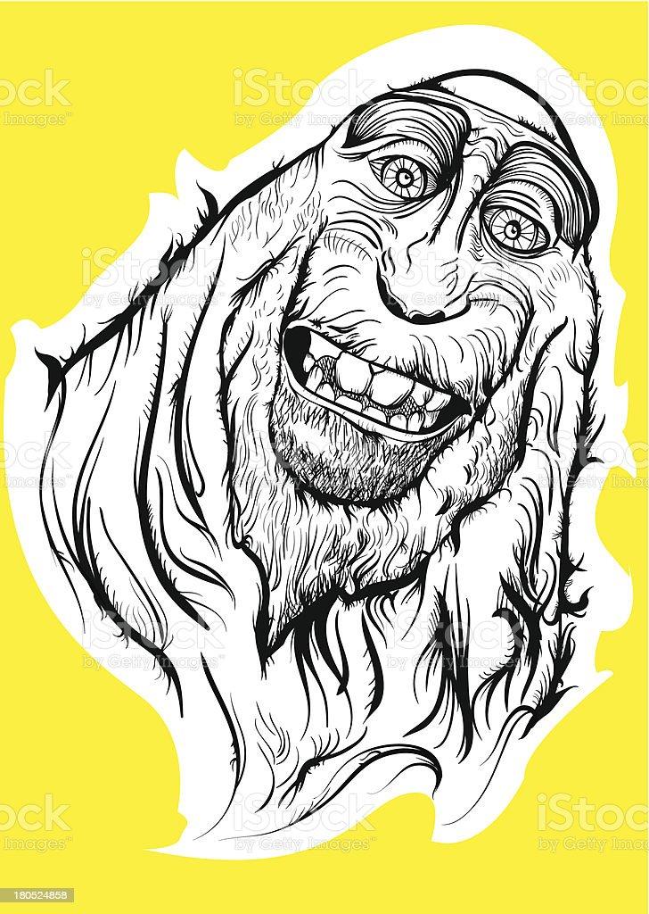monster monkey royalty-free stock vector art