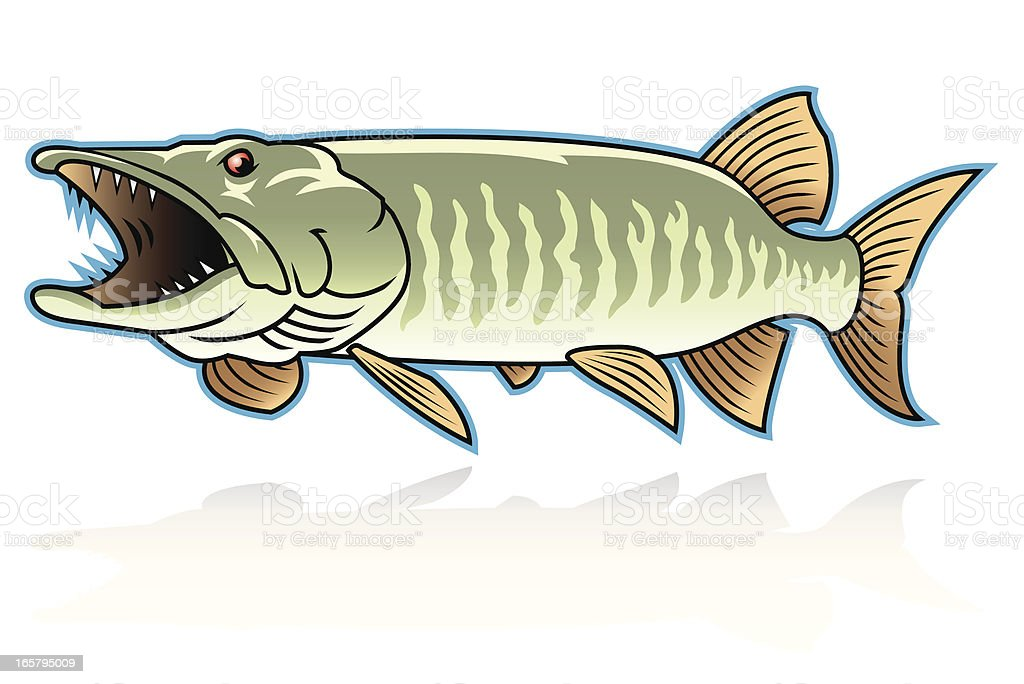 Monster Musky royalty-free stock vector art