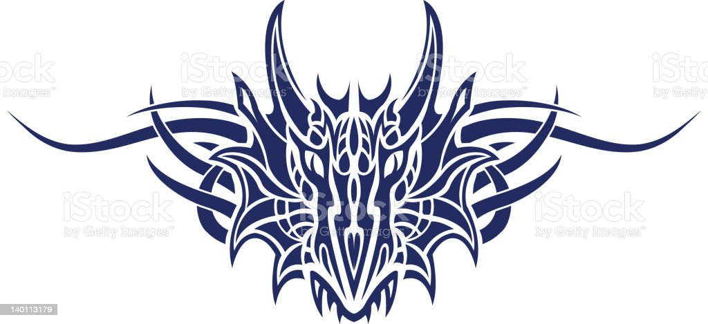 Monster tatoo vector art illustration