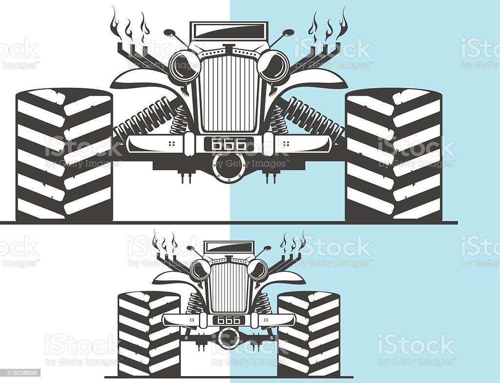 Monster truck and other variation vector art illustration