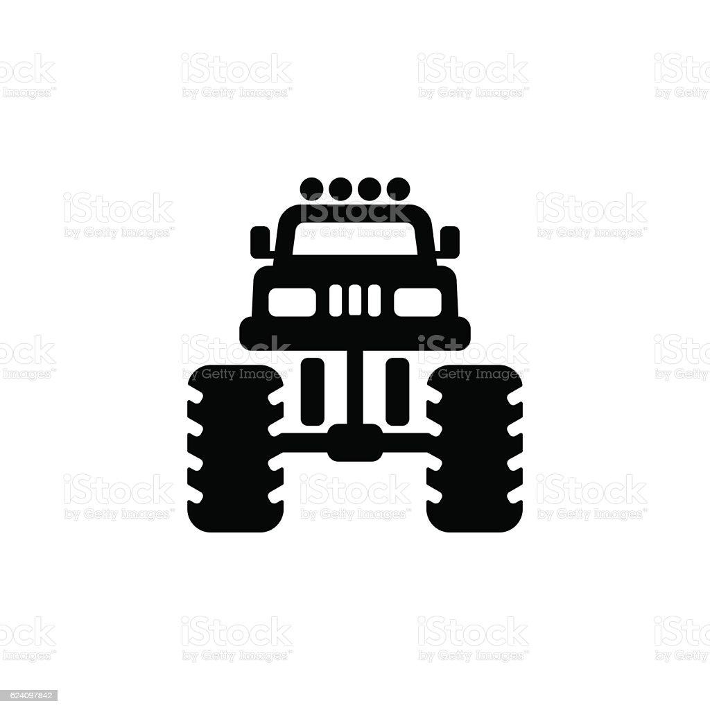 Monster truck icon vector art illustration