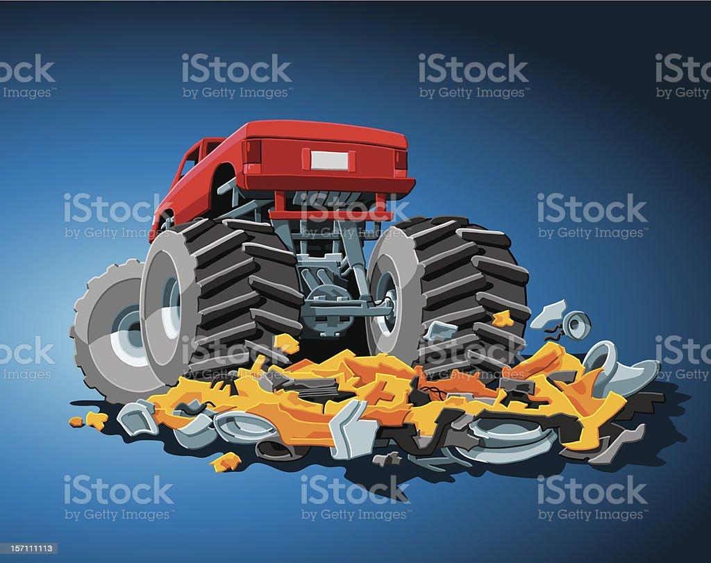 Monster Truck vector art illustration