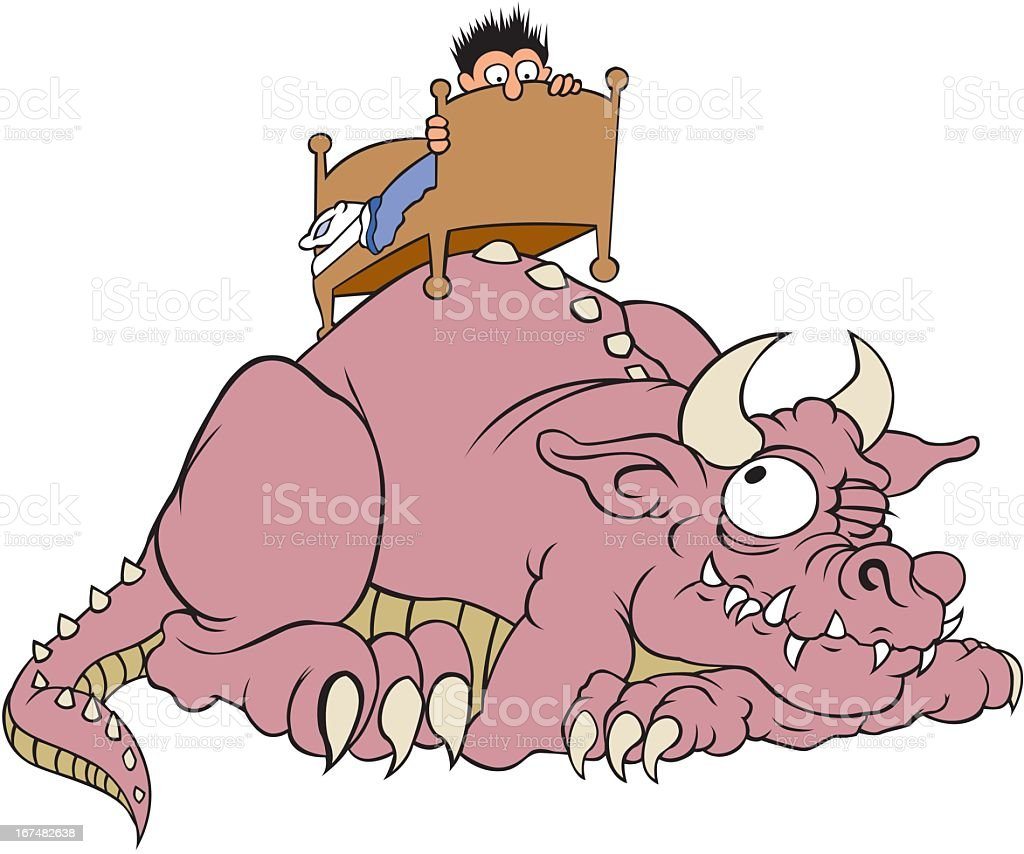 Monster Under The Bed royalty-free stock vector art