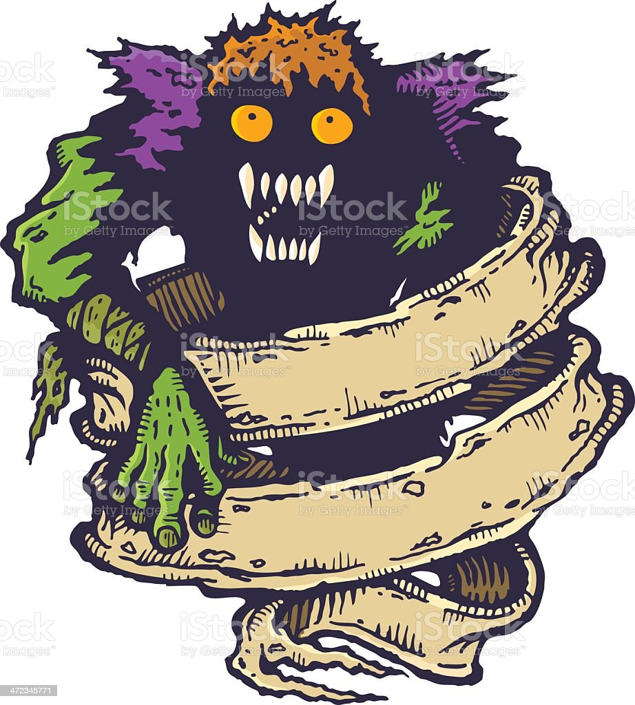 Monster royalty-free stock vector art
