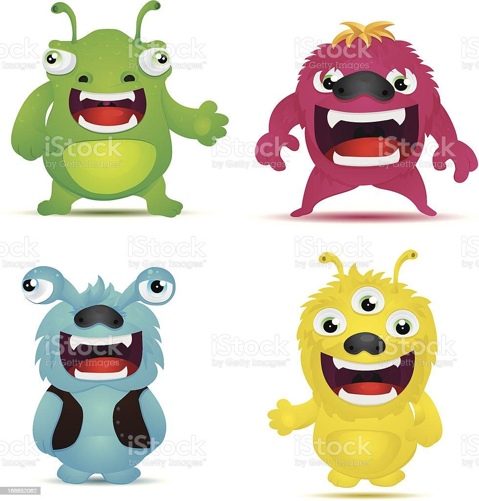 Monster Virus vector art illustration