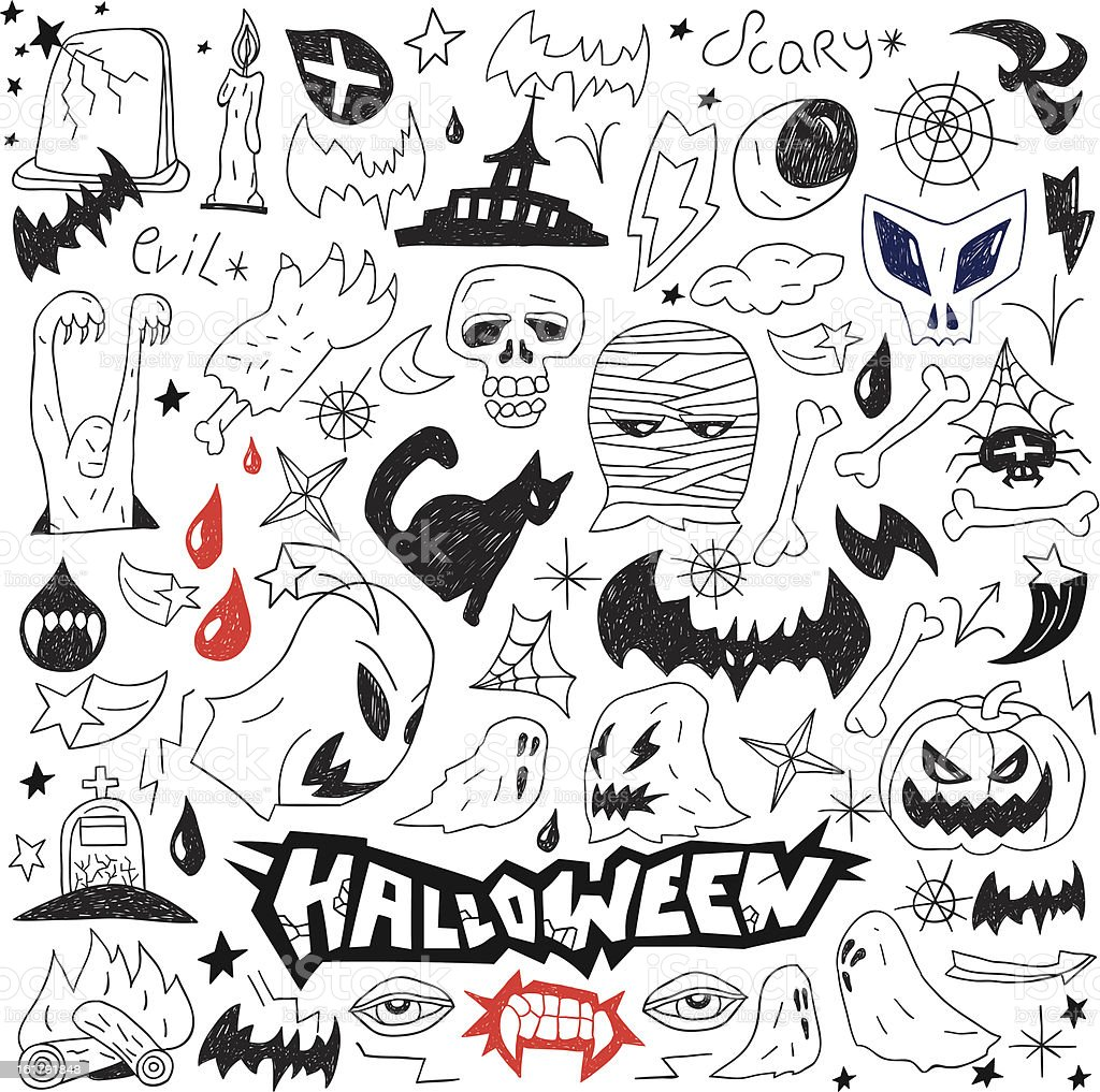 Monsters -  collection doodles royalty-free stock vector art
