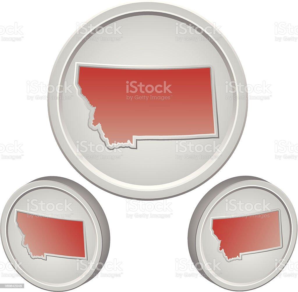 Montana Button royalty-free stock vector art