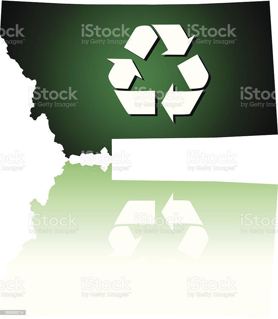Montana Recycles royalty-free stock vector art