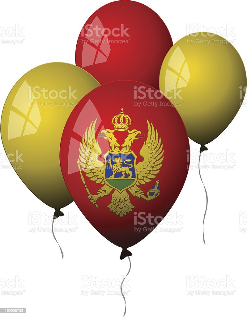 Montenegro - Balloons royalty-free stock vector art