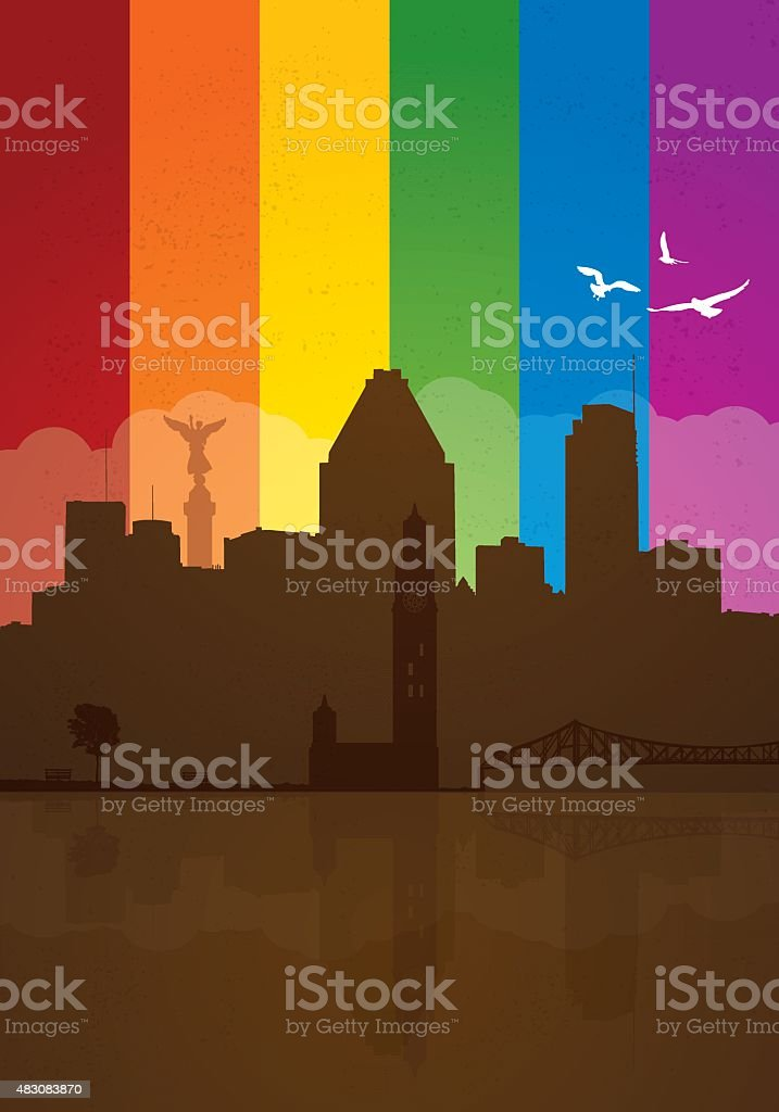 Montreal gay pride vector art illustration