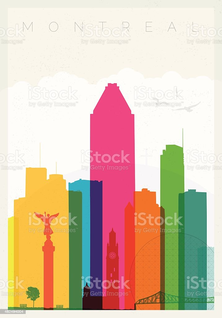 Montreal poster vector art illustration