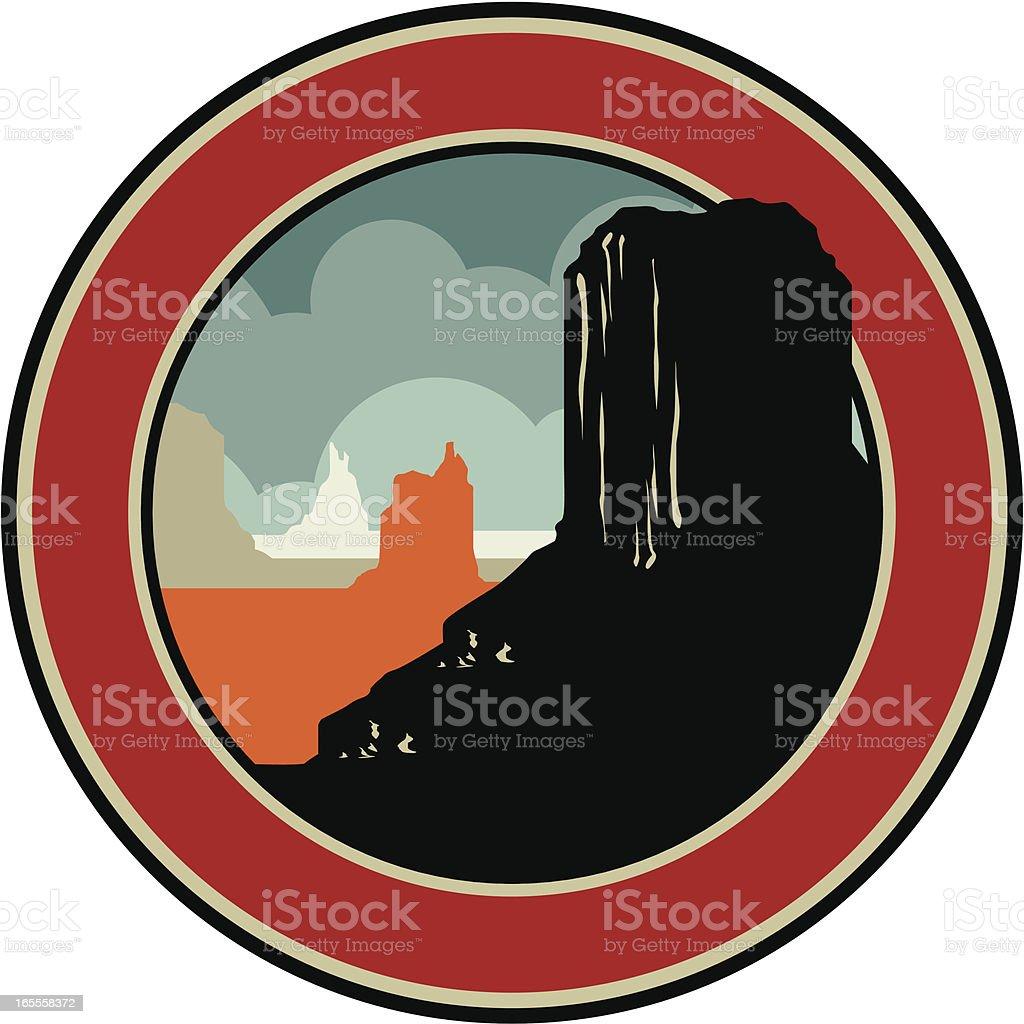monument valley emblem royalty-free stock vector art