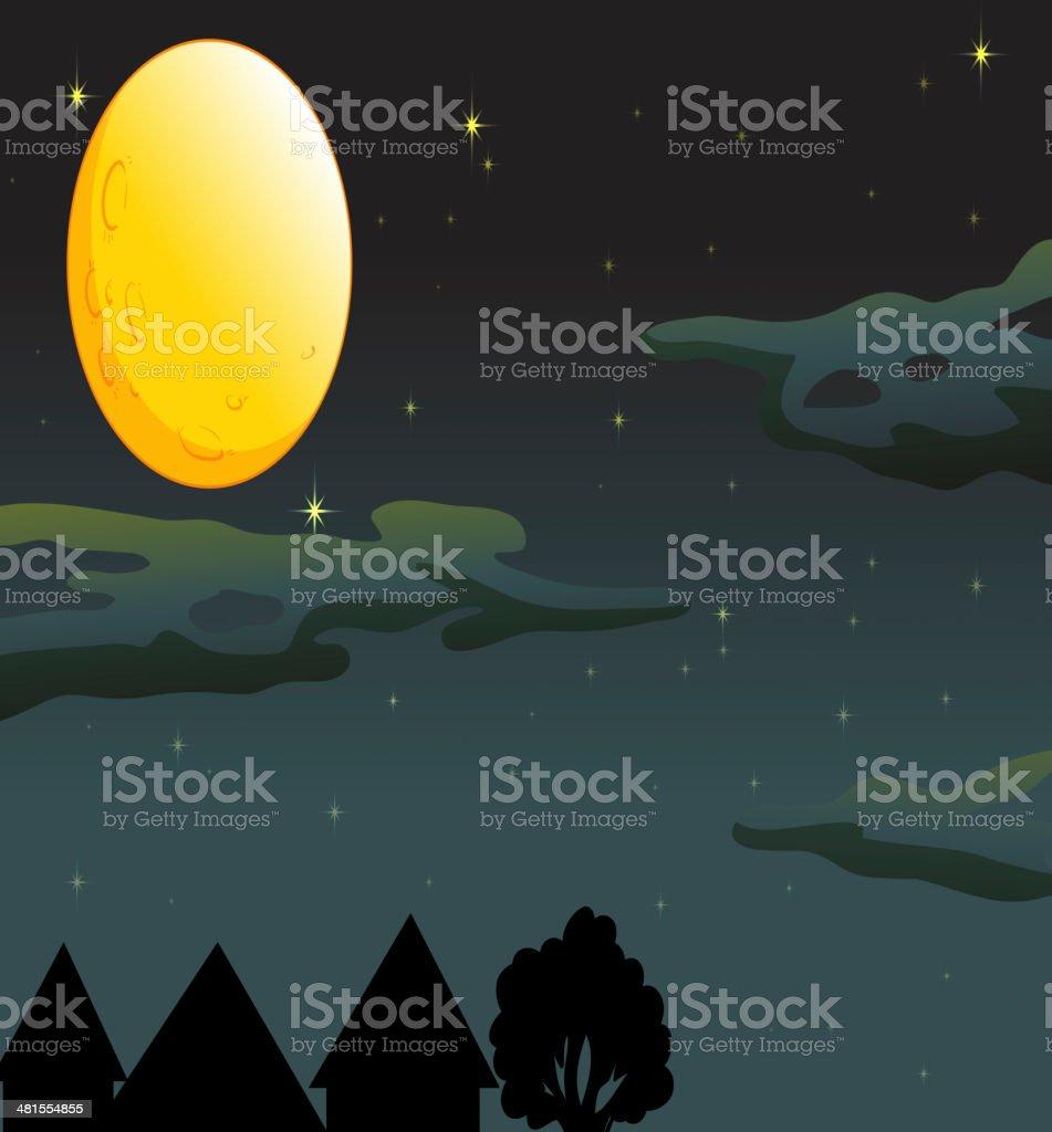 moon and stars royalty-free stock vector art