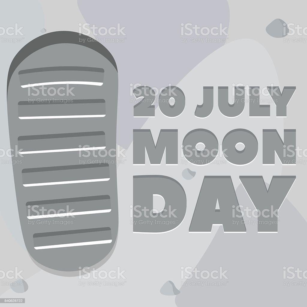 Moon day poster vector art illustration