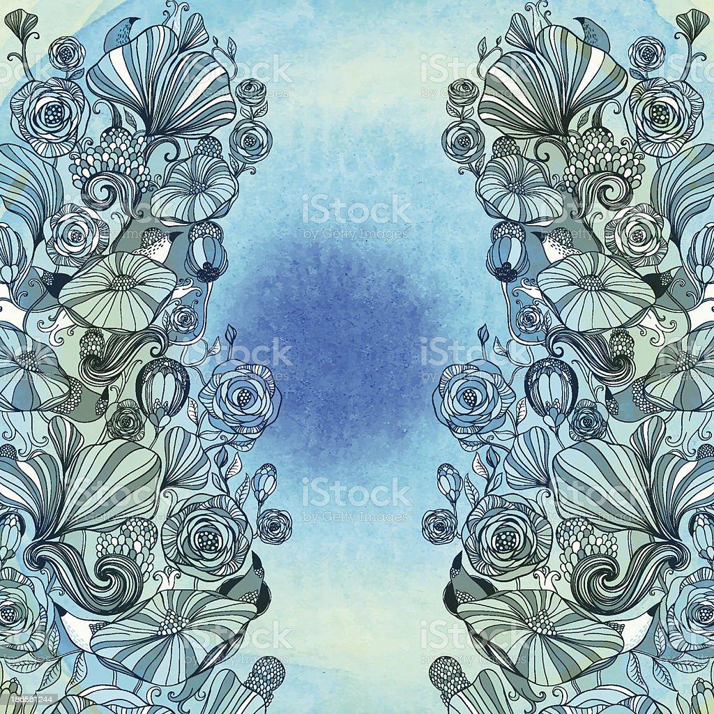 Moon garden royalty-free stock vector art