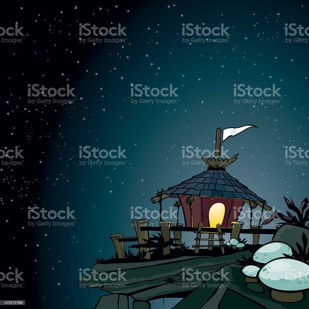 Moon Hut royalty-free stock vector art