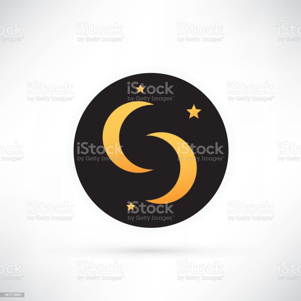 moon icon royalty-free stock vector art