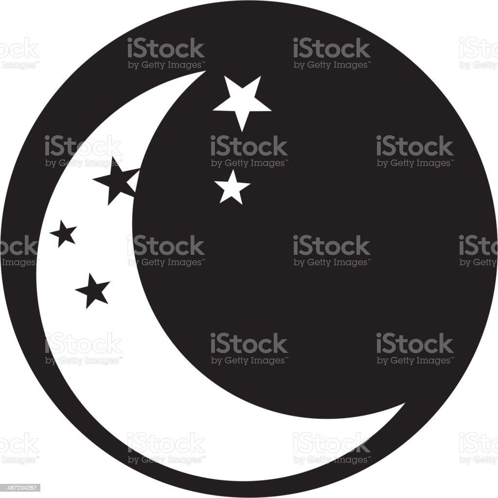 moon icon vector royalty-free stock vector art