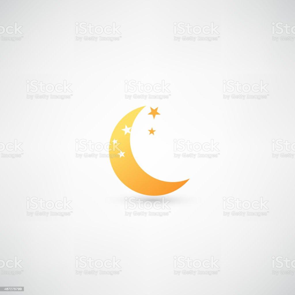 moon icon vector vector art illustration