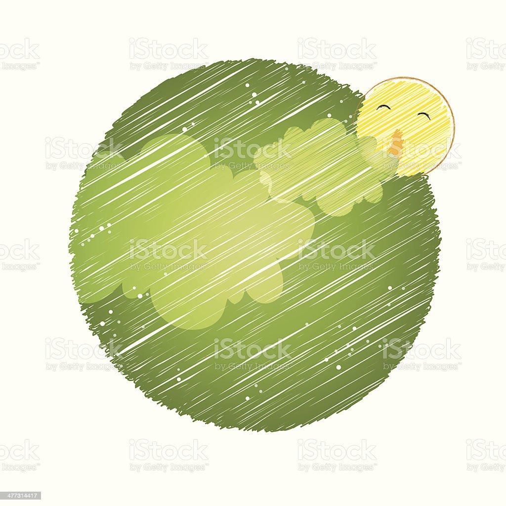 Moon in sky royalty-free stock vector art