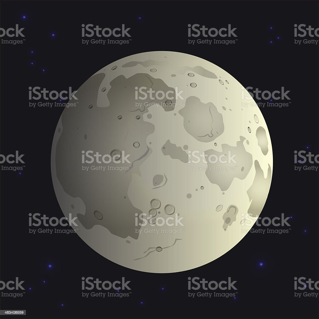 Moon in space royalty-free stock vector art