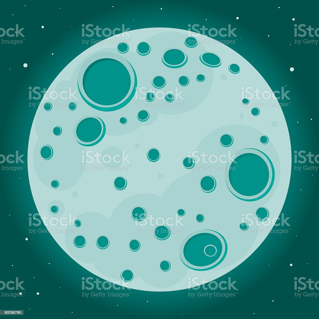 Moon surrounded by stars royalty-free stock vector art