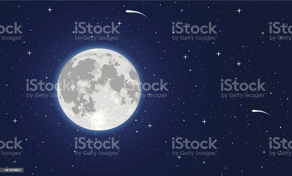 Moon royalty-free stock vector art